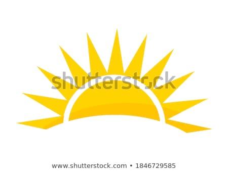 zon · clip · art · ontwerp · vector · geïsoleerd · illustratie - stockfoto © haris99