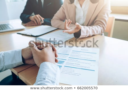 Business situation, job interview concept. Stock photo © ijeab