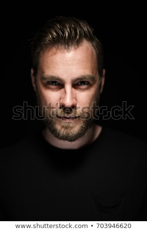 dark portrait men depress Stock photo © Lopolo