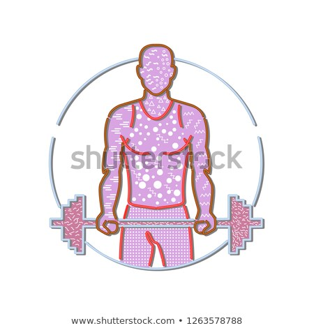 Personal Trainer Lifting Barbell Memphis Style Stock photo © patrimonio