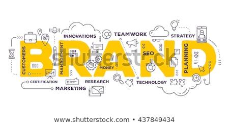 Márka név üzlet marketing stratégia cég elismerés Stock fotó © RAStudio