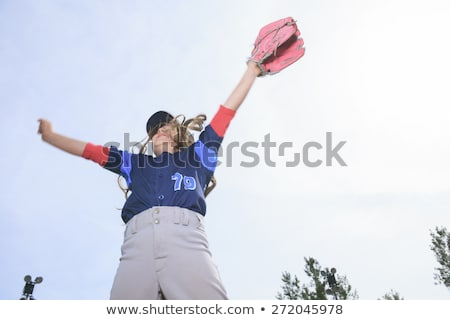 A nice child happy to play baseball Stock photo © Lopolo