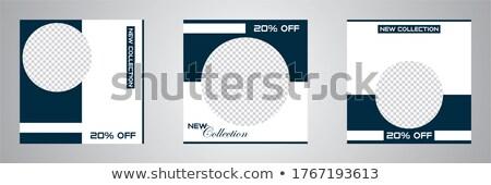 Holographic gradient sale background template set Stock photo © cienpies