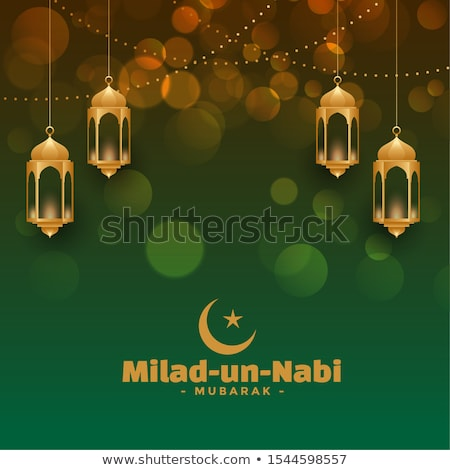 attractive milad un nabi festival card design Stock photo © SArts