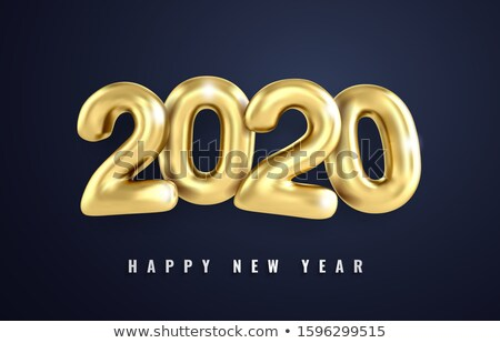 2020 happy new year calendar template in clean style Stock photo © SArts
