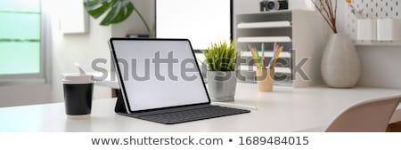 Ev ofis işyeri klavye tablo parlak Stok fotoğraf © karandaev