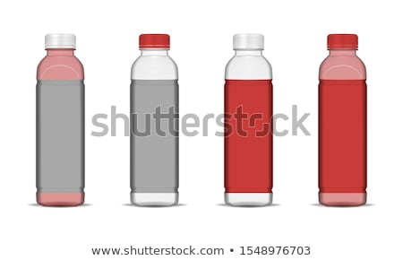 Szkła butelki zamknięte czerwony cap mleka Zdjęcia stock © pikepicture