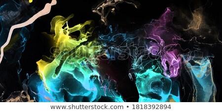 Splash kolorowy dymu ultrafioletowy kolory streszczenie Zdjęcia stock © artjazz