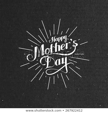 Mães dia emblema flores buquê mão Foto stock © angelp