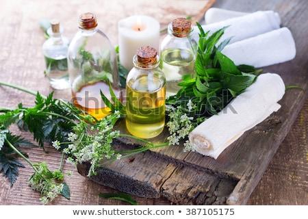 aromatic oil bottle for bath Stock photo © olira