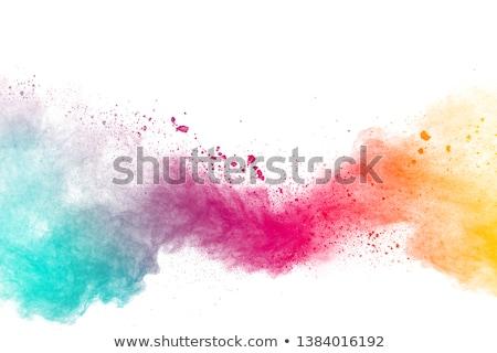 Absztrakt tarka por robbanás fehér dekoratív Stock fotó © artjazz