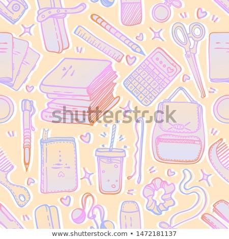 набор различный канцтовары иллюстрация различный инструменты Сток-фото © jossdiim