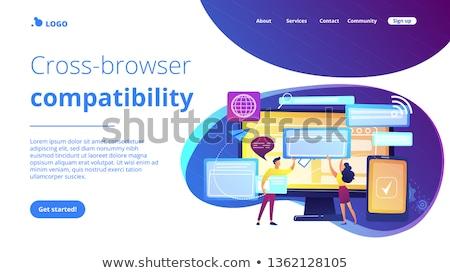 Cross-browser compatibility concept landing page. Stock photo © RAStudio