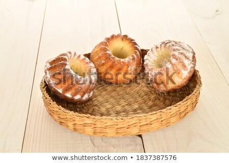 Bakery, Cupcake with Cream and Chocolate Straw Stock photo © robuart