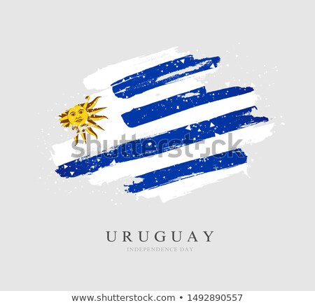 Уругвай флаг стороны белый Мир знак Сток-фото © butenkow