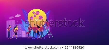 Nieuwe team banner bedrijf personeel Stockfoto © RAStudio
