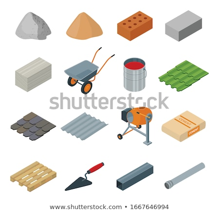 Pipes and piles of sand in the background Stock photo © deyangeorgiev