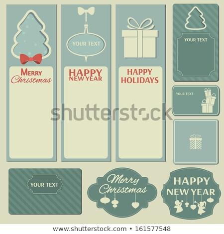 Noël · présents · boîte · eps · blanche · flocons · de · neige - photo stock © beholdereye