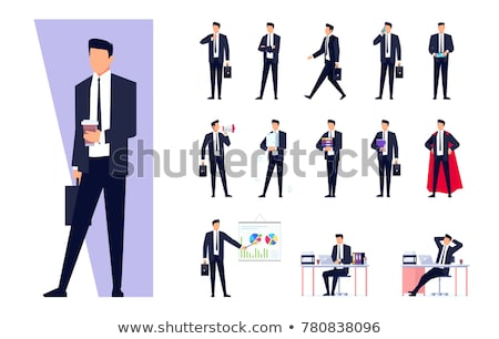 businessman character isolated on white Stock photo © goryhater