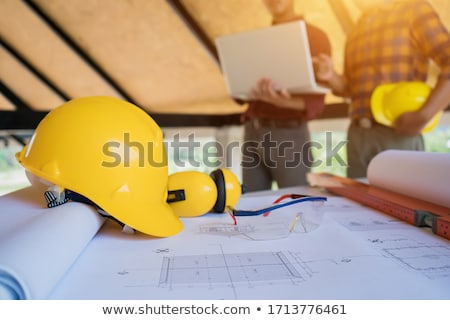 Enthusiastic construction worker Stock photo © photography33