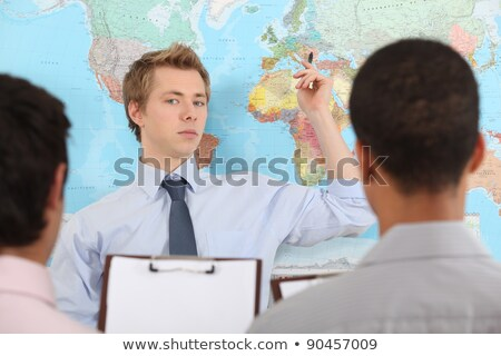 A businessteam planning a relocation. Stock photo © photography33
