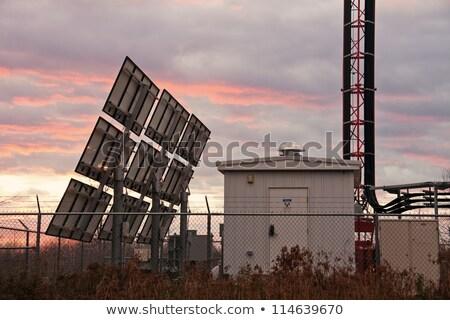 Equipamento abrigo celular gps antena Foto stock © benkrut