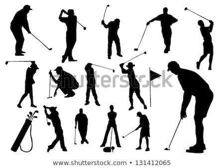 man · golf · afbeelding · mannelijke · golfbal · gat - stockfoto © photography33