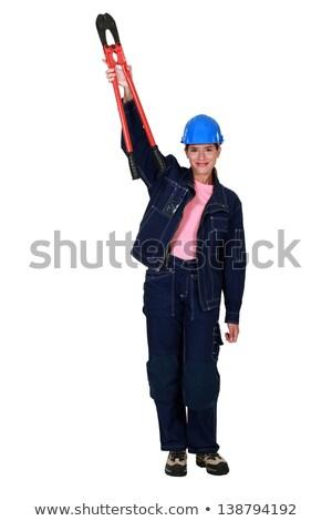 eletricista · posando · equipamento · edifício · homem · construção - foto stock © photography33