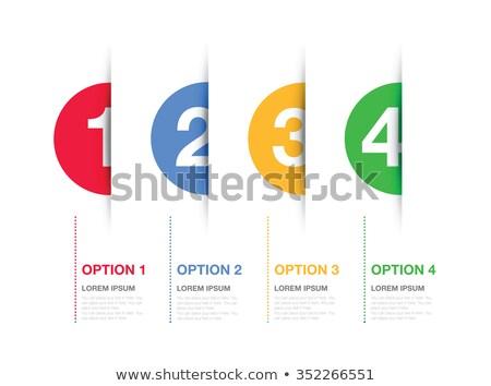 een · twee · drie · vector · papier · opties - stockfoto © orson