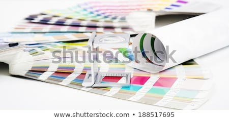 Printing loupe on proof Stock photo © sumners