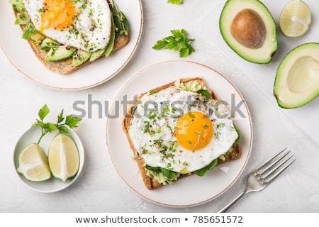 豌豆 · 雞蛋 · 餐廳 · 雞蛋 · 綠色 - 商業照片 © witthaya