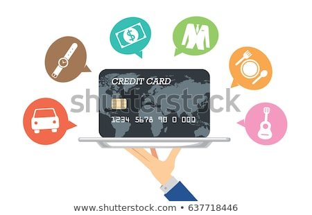 Waiter holding tray with credit card Stock photo © photography33