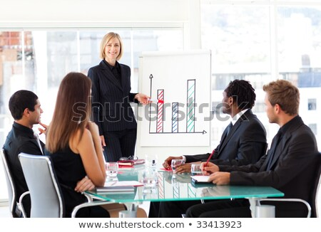businesswoman giving her pen Stock photo © photography33