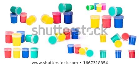 műanyag · raktár · doboz · műanyag · tároló · izolált · fehér - stock fotó © ozaiachin