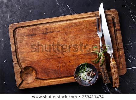 cutting board and kitchen knife stock photo © devon
