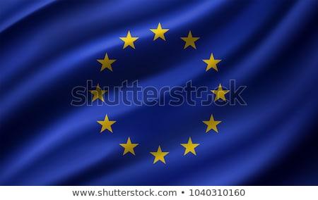 Fabric texture of the flag of European Union Stock photo © maxmitzu