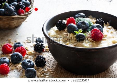 mirtillo · ciotola · fresche · mirtilli · yogurt - foto d'archivio © m-studio