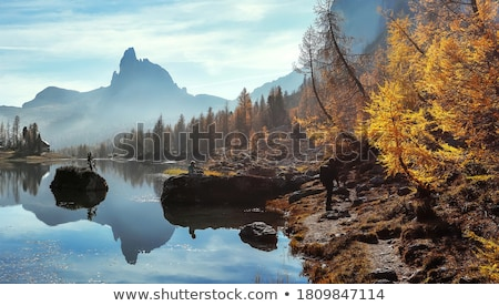 Tájkép nyár légifelvétel völgy kő hegyek Stock fotó © Antonio-S