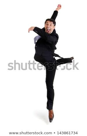 Behendig zakenman leuk portret opgewonden smart Stockfoto © smithore