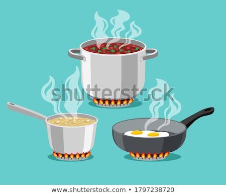 Saucepan on Burner Stock photo © luminastock
