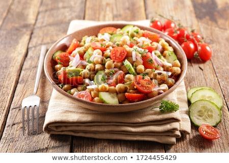 salade · bestanddeel · hout · zomer · diner · tomaat - stockfoto © m-studio