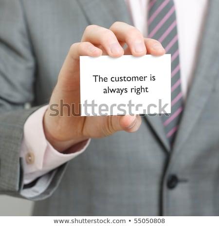 Cliente sempre direito mulher assinar Foto stock © kbuntu