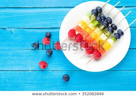 fruto · quibe · frutas · frescas · morangos · uvas · bananas - foto stock © m-studio