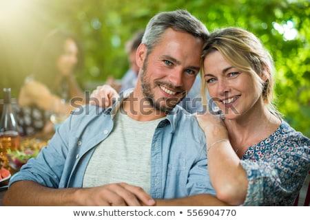 Coppia sorridere in giro trenta donna amore Foto d'archivio © photography33