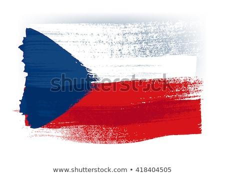mapa · bandeira · República · Checa · azul · branco · padrão - foto stock © perysty