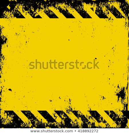 hazard stripes plaque Stock photo © clearviewstock