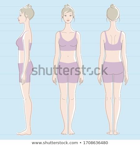 female body in underwear Stock photo © imarin