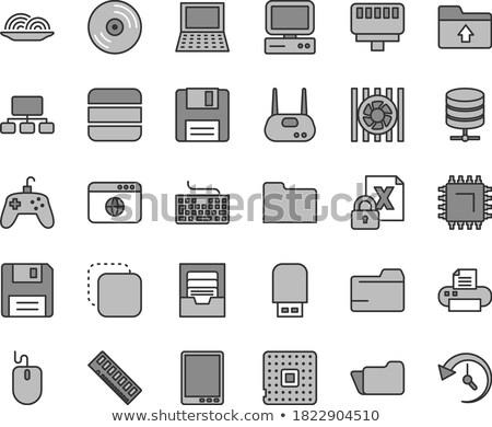 Zdjęcia stock: Pliku · folderze · promieniowanie · podpisania · komputera · grupy