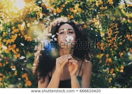 женщину долго темные волосы расплывчатый лице женщины Сток-фото © Nobilior