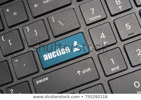 On-line leilões mão preto marcador transparente Foto stock © ivelin